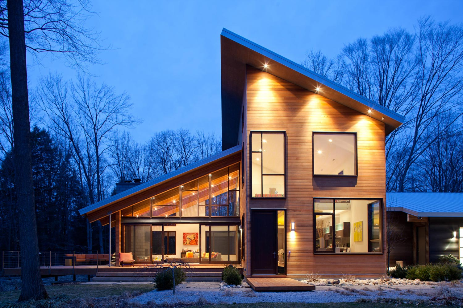 Lucid Architecture's Pigeon Creek residence has a featured modern design.