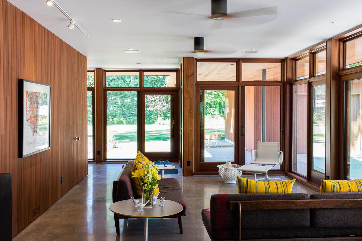 screen porch cedar mid century modern lucid architecture