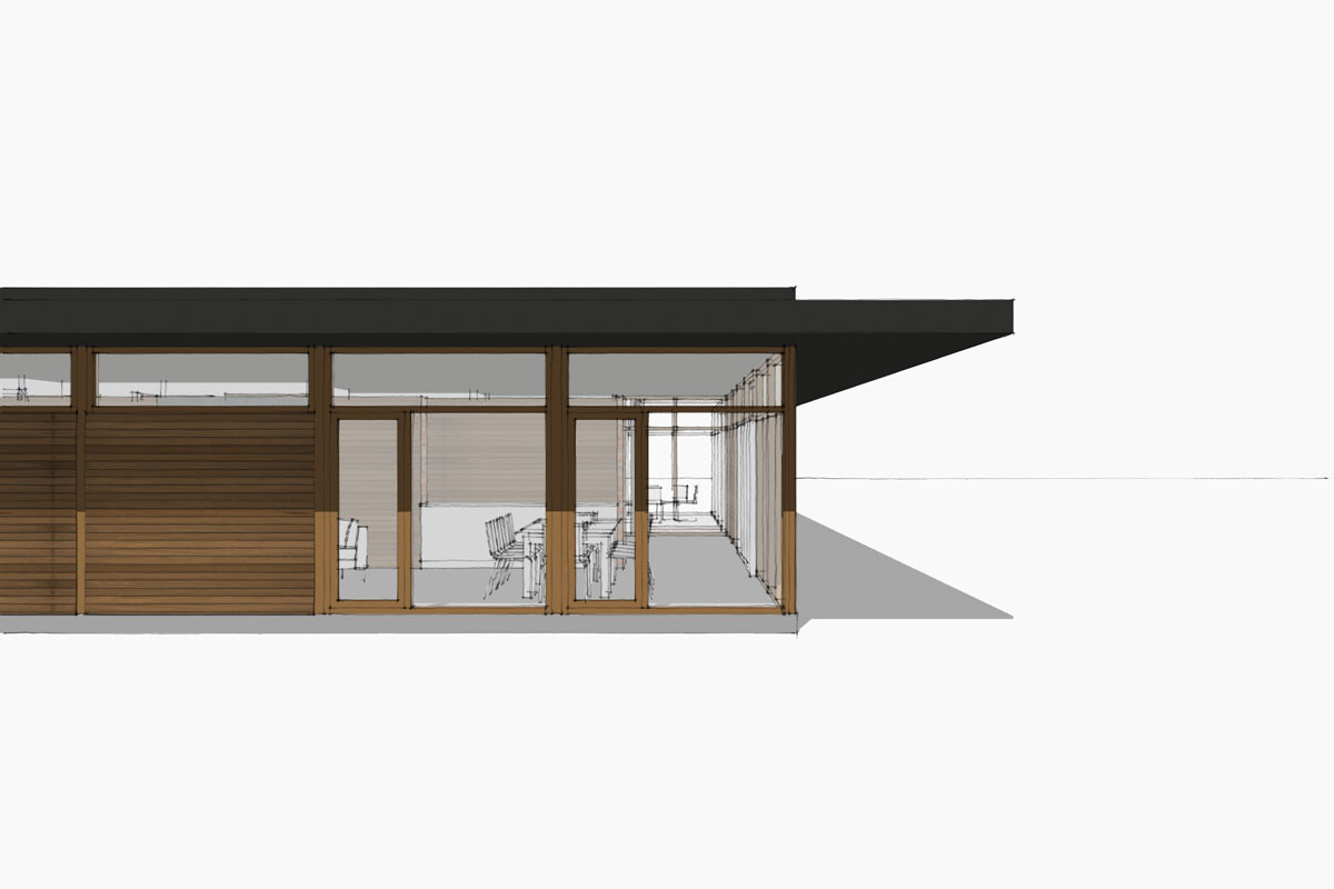 Mid century modern window study Lucid Architecture