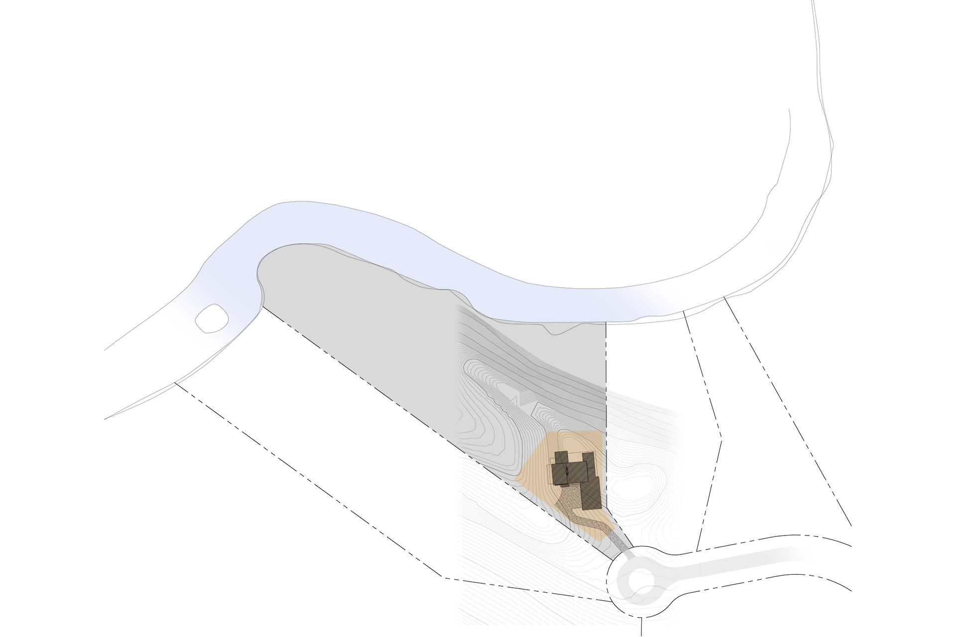 Rouge River site plan by Lucid Architecture