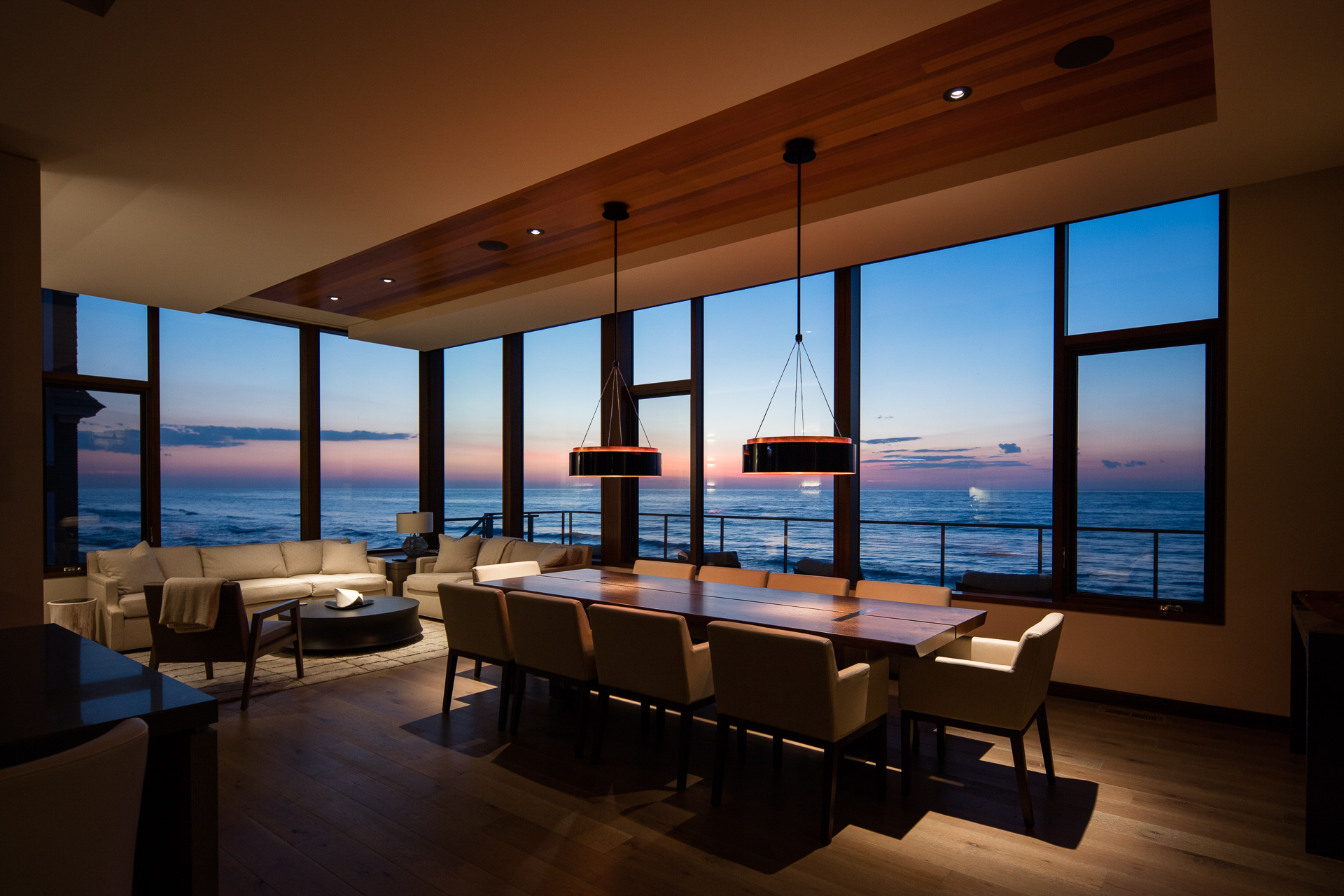 Lucid Architecture Modern Beach House Dining Room Lucid Architecture