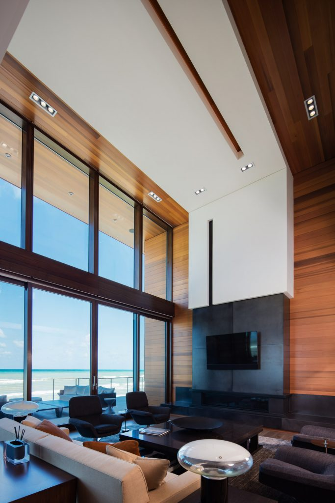 lake michigan home water view architecture beach modern home residential living room beach door window
