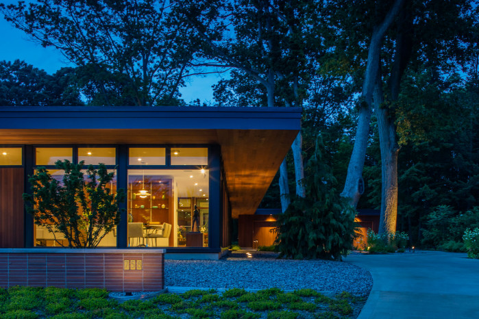saugatuck mid century modern home design cedar glass warm west michigan