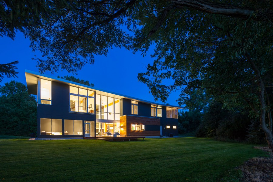 Beautiful Lake Allegan residence design by Lucid Architecture.